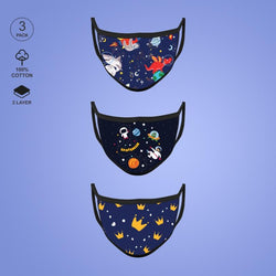 Pack of Three: Mask For Kids - Space Face