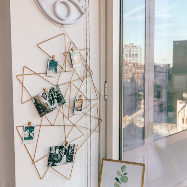 Abstract Photo Holder Wall Grid