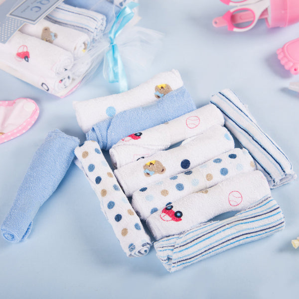 Baby Blue Napkin 10pcs Set