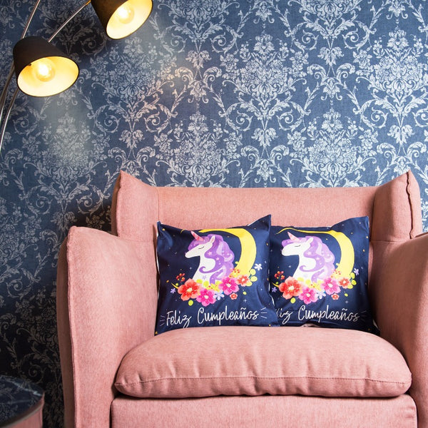 Unicorn Print Cushion Cover (Set of 2)