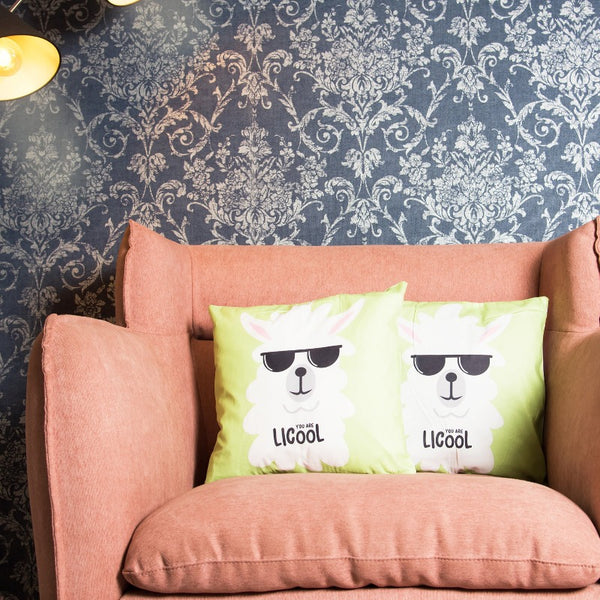 Cool Llama Print Cushion Cover (Set of 2)