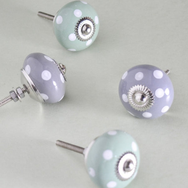 Polka Dot Story Knobs (set of 2)