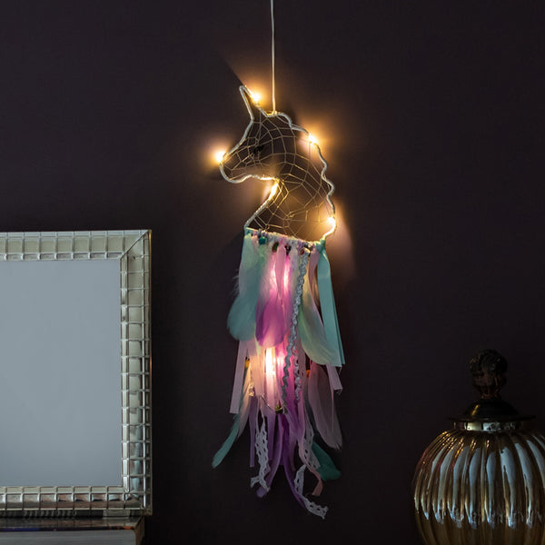 Unicorn Multi - Color Dream Catcher (With Lights)
