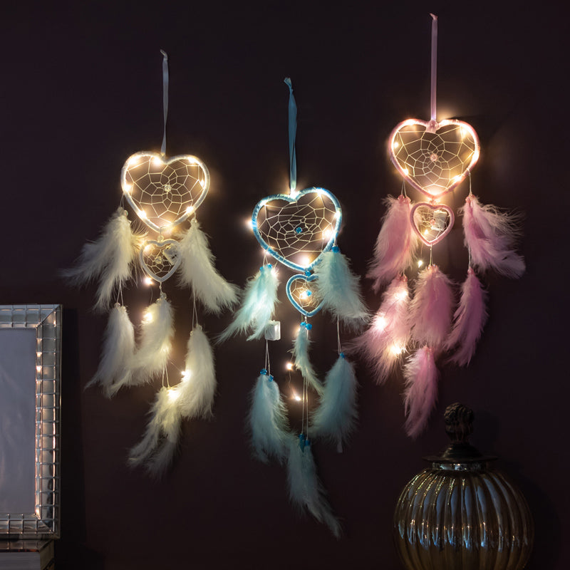Heart Dream Catcher (With Lights)