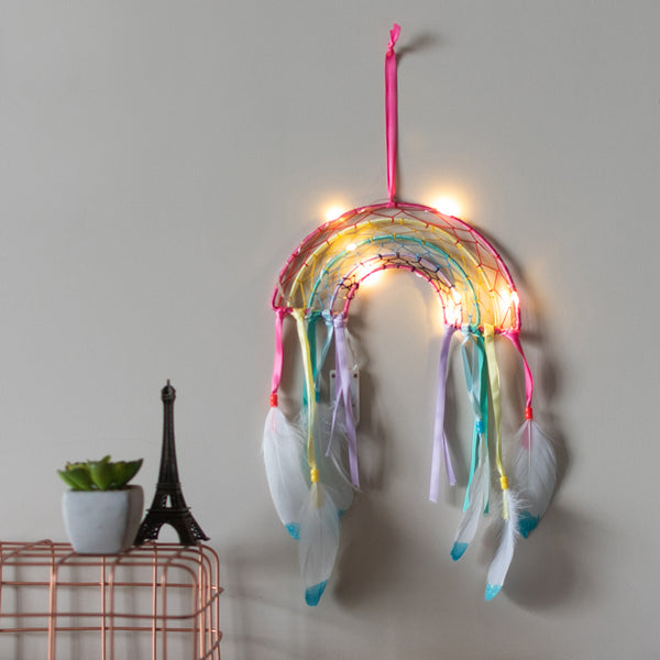Rainbow Dream Catcher (With Lights)