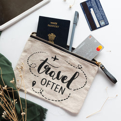 Travel Often - Canvas Pouch