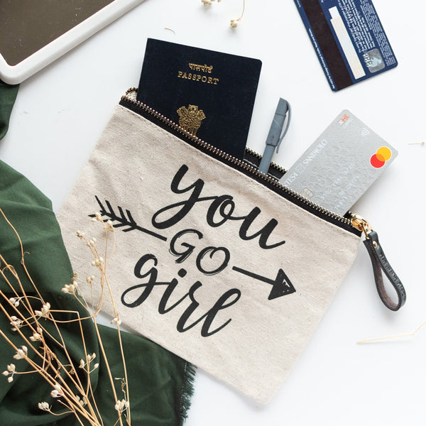 You Go Girl - Canvas Pouch