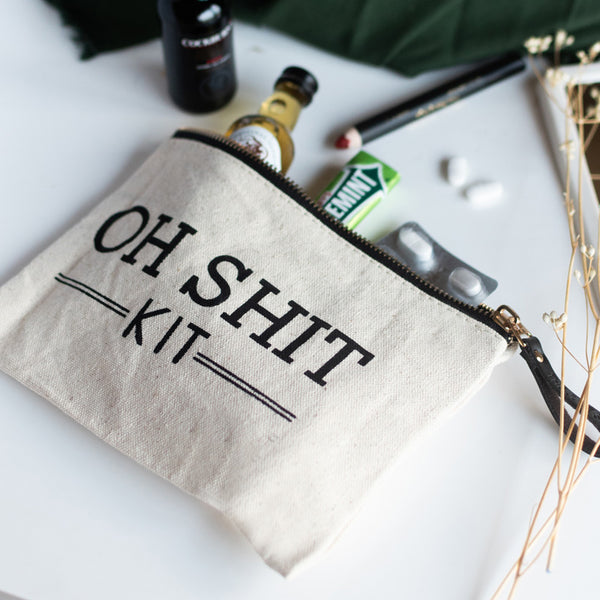 Oh Sh*t Kit - Canvas Pouch