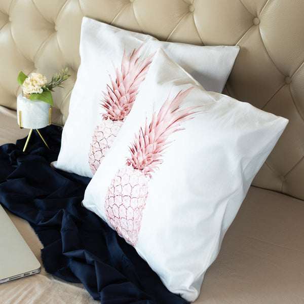 Pineapple Print Cushion Covers (Set of 2)