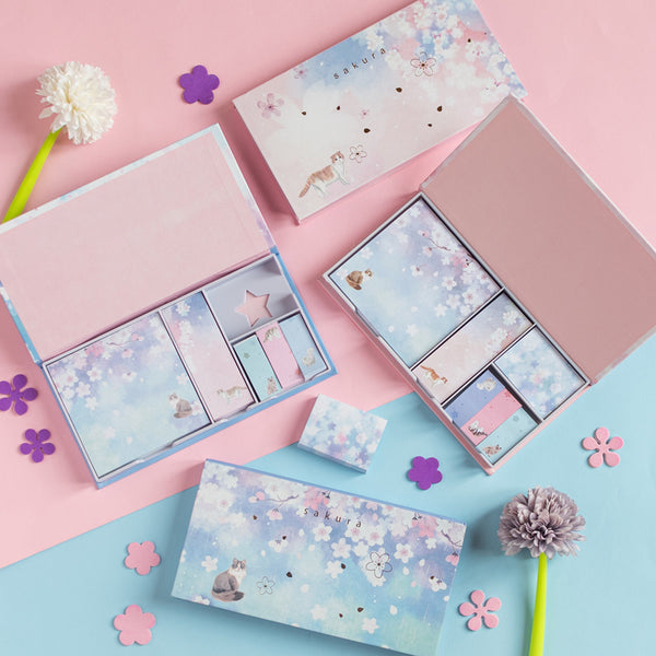 Cherry Blossom Post It (Set of 6)