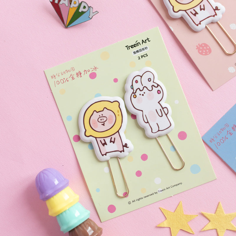 Animal Bookmark Paperclips (Set of 2)