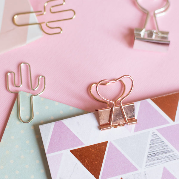Bookmark/Paper Clips Set - Love Cactus - Set of 7