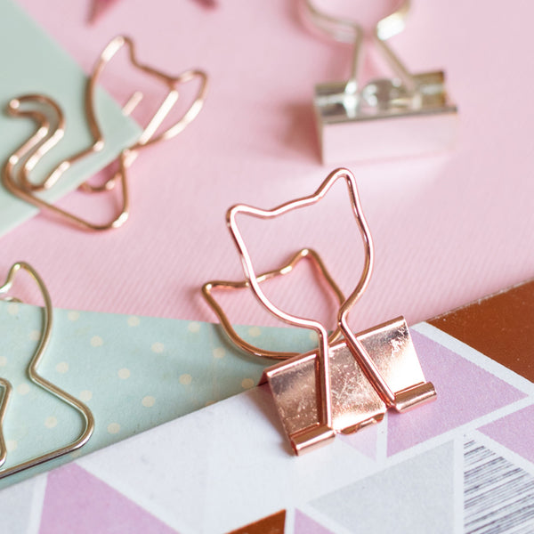Bookmark/Paper Clips Set - Kitty Cat - Set of 7