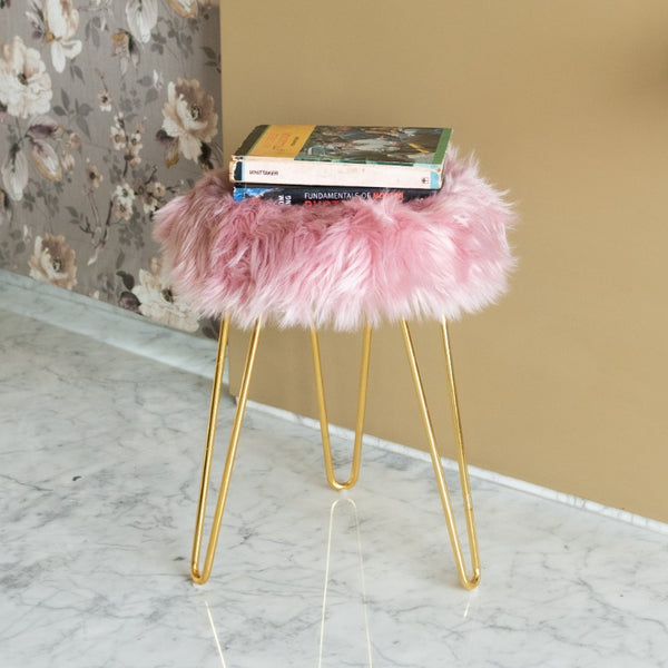 Fur Stool - Purple
