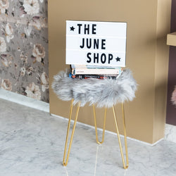 Fur Stool - Grey