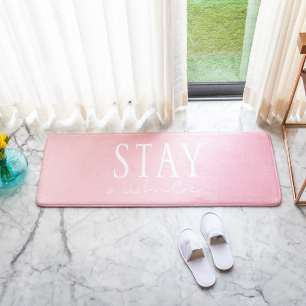 Stay a while Anti - Slip Bed Runner