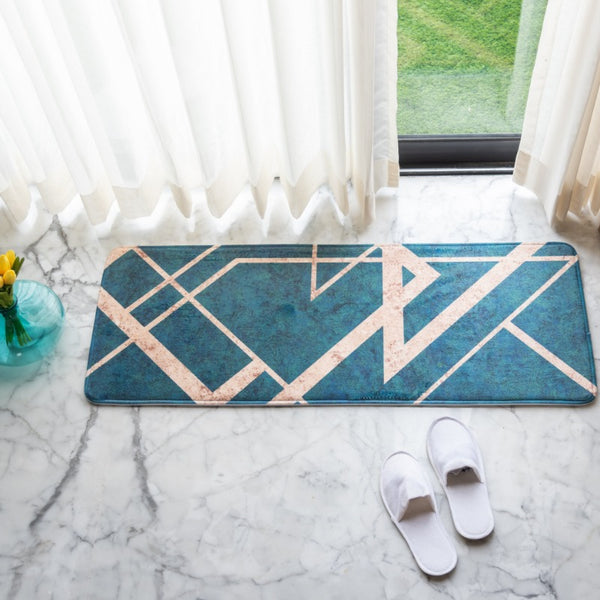 Emerald Anti - Slip Bed Runner