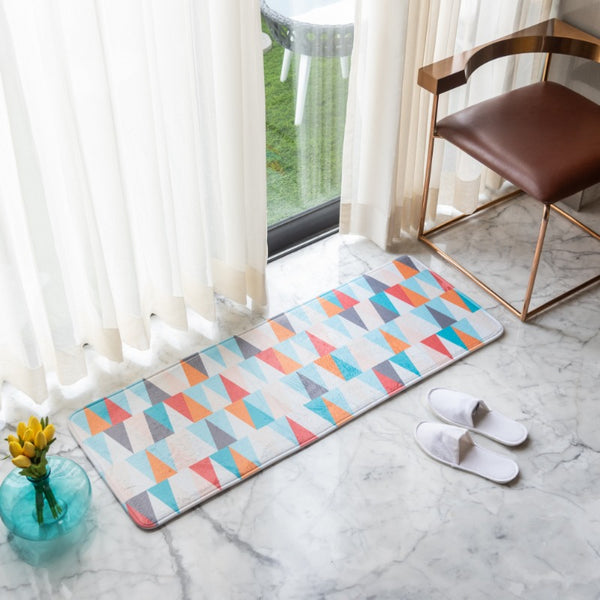 Colorful Triangle Anti - Slip Bed Runner