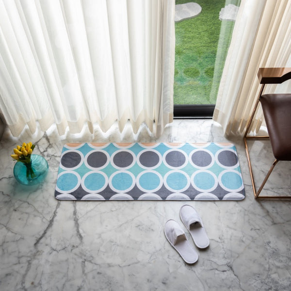 Circular Print Anti - Slip Bed Runner
