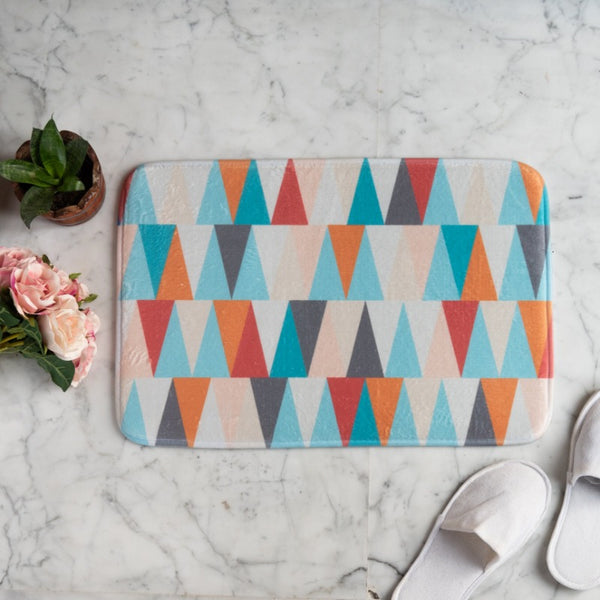 Colorful Triangle Anti - Slip Doormat