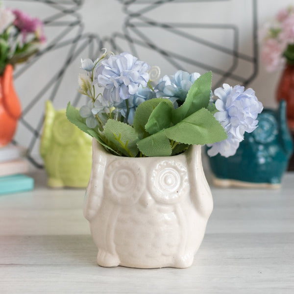 Cute Owl Planter - Hand Painted Mini Resin Pot