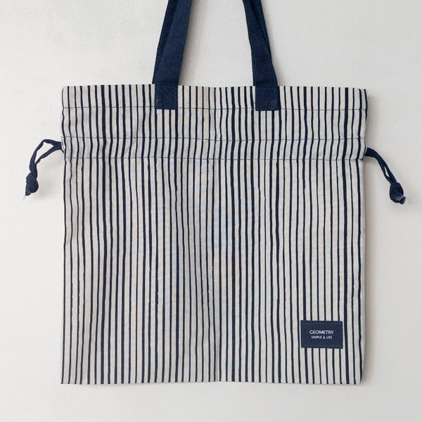 Blue Stripes Print Shoulder Bag