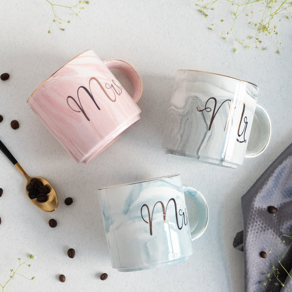 Mr and Mrs Marble Coffee Mug
