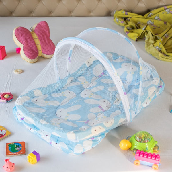 Portable Rabbit Printed Baby Bed
