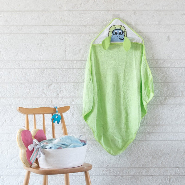 Baby Hooded Towel - Tortoise