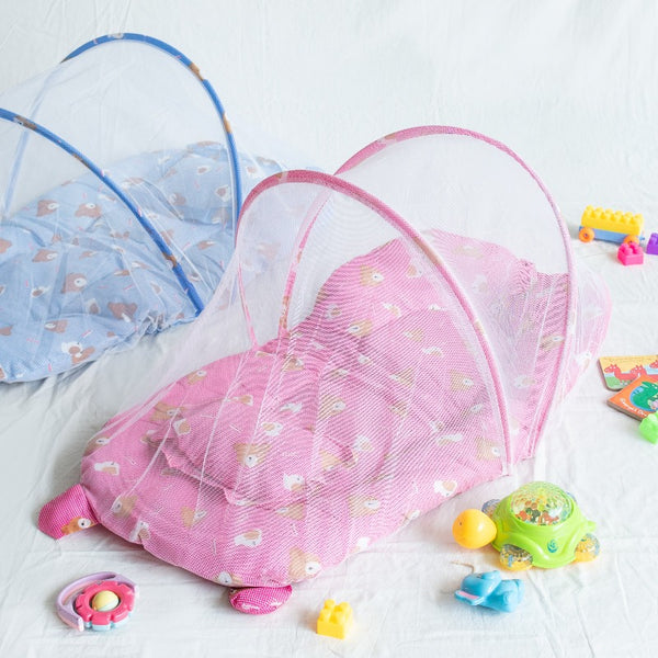 Portable Teddy Printed Baby Bed