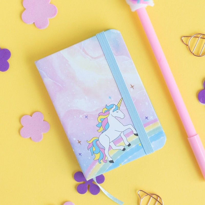 Mini Dreamy Unicorn Notepad (Hard Cover)