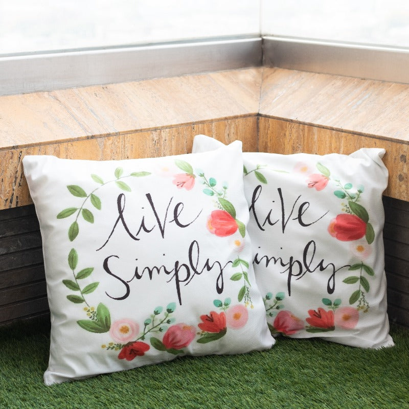 Live Simply Print Cushion Covers (Set of 2)