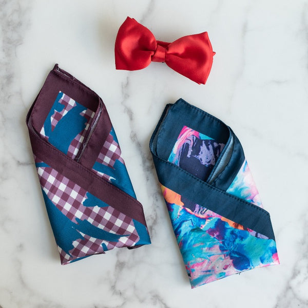Abstract Print - Pocket Squares (Set of 2)