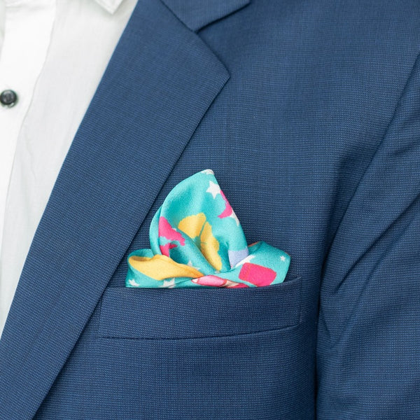 Lips and Splash Print - Pocket Squares (Set of 2)