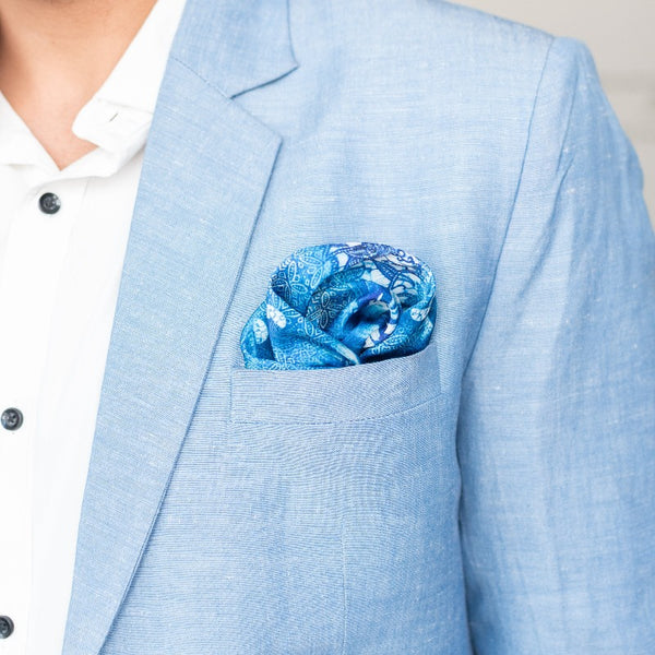 Blue Hues - Pocket Squares (Set of 2)