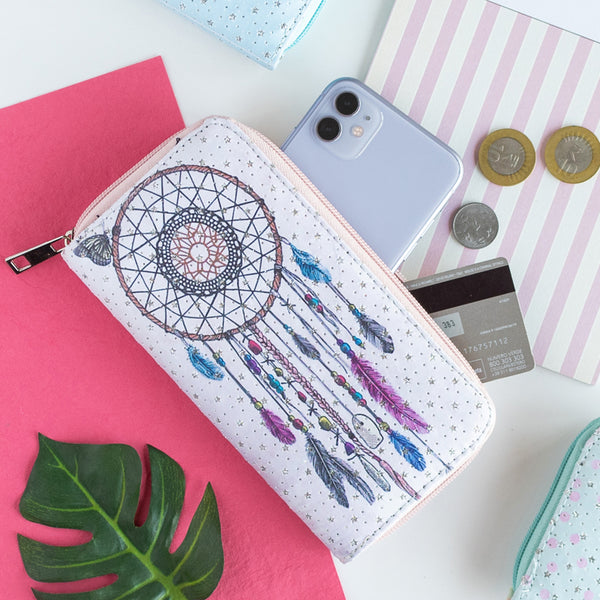Dreamcatcher Print Zip-Around Wallet.