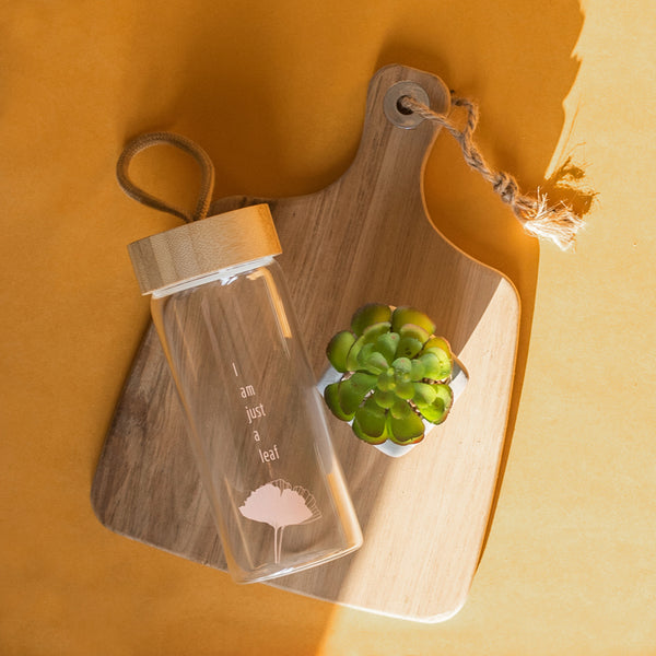 Wooden Lid Glass Bottle