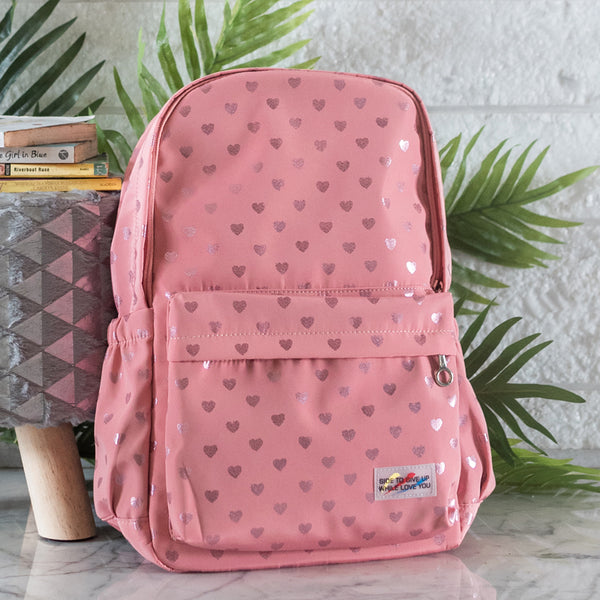 Heart Print Laptop Backpack