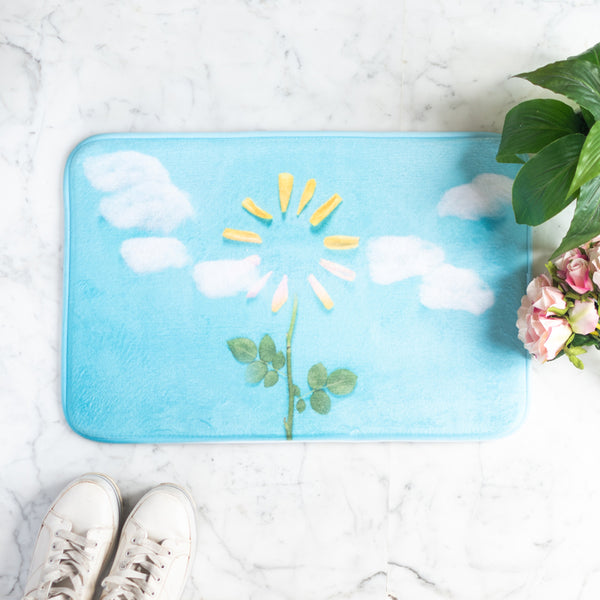Sun Flower Anti - Slip Doormat