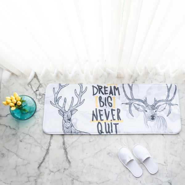 Dream Big Never Quit Anti - Slip Bed Runner