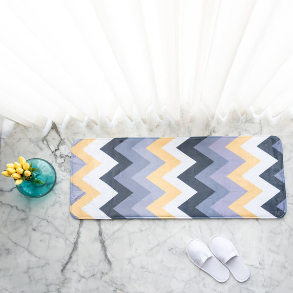 Zig Zag Anti - Slip Bed Runner