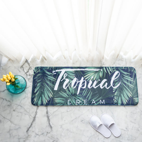 Tropical Anti - Slip Bed Runner