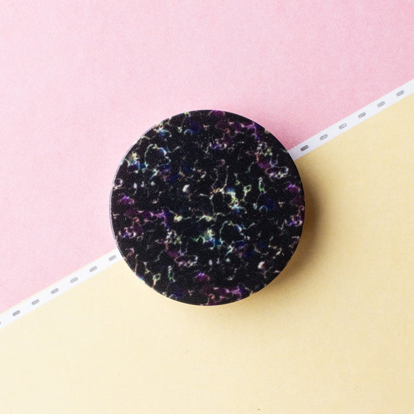 Black Texture Pop Socket