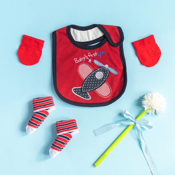 Baby's First 4th - Bib Gift Set
