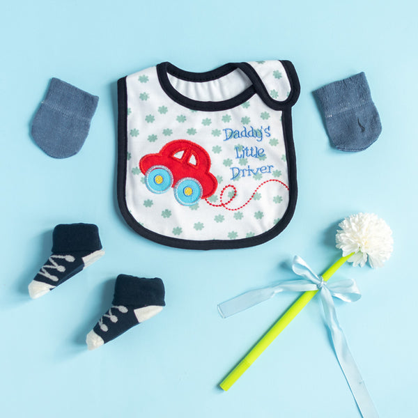 Daddy's Little Driver - Bib Gift Set