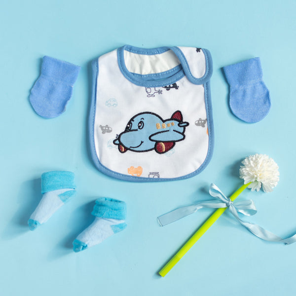 Cute Airplane Bib Set