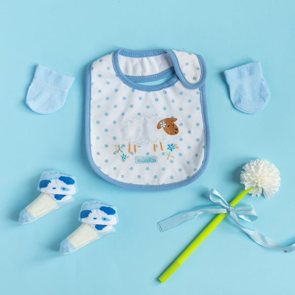 Baby Sheep - Bib Gift Set