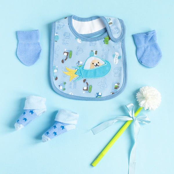 Spaceship - Bib Gift Set