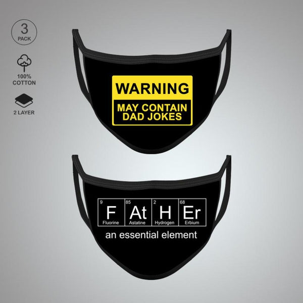 Pack of Two: Father's Special Face Mask