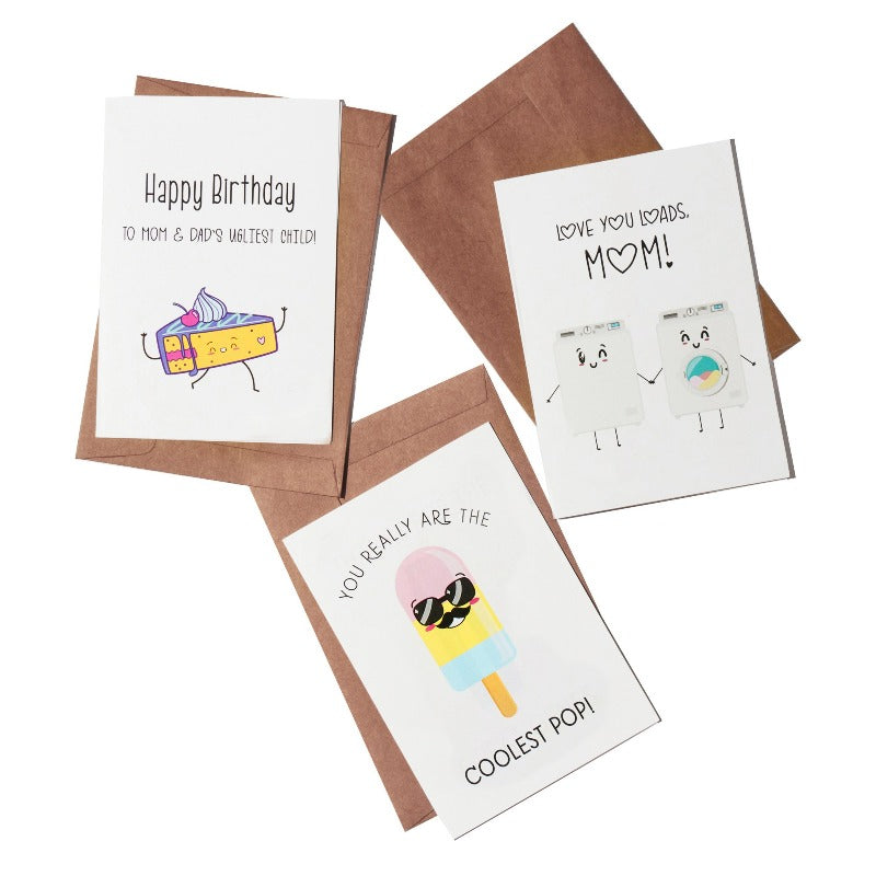 Family Greeting Card- Set of 3